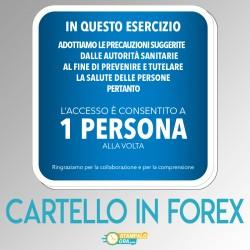 Cartello in FOREX 30x30cm...